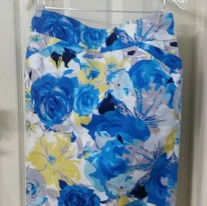 Charter Club Floral Blue Skirt